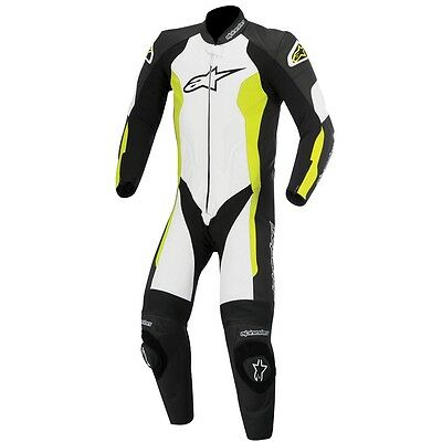 Alpinestar Alpinestars Challenger Leather 1 One Piece Suit - Black White Fluo