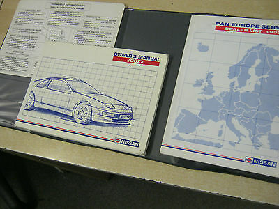 Genuine Nissan 300 Zx Owners Manual Z32 Models Rare Rare Book !