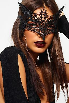 New Ladies FOXY VENETIAN MASQUERADE EYE MASK HALLOWEEN PARTY LACE FANCY DRESS