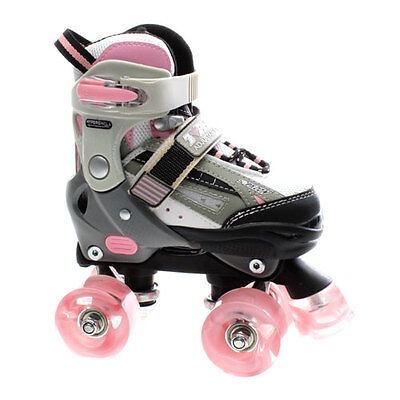 NEW SFR Typhoon Girls/Womens Pink Adjustable Quad Roller Skates Sizes - J8 - UK6