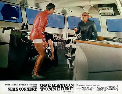 James Bond 007 Adolfo Celi Sean Connery Thunderball 1965 Vintage Lobby Card #11