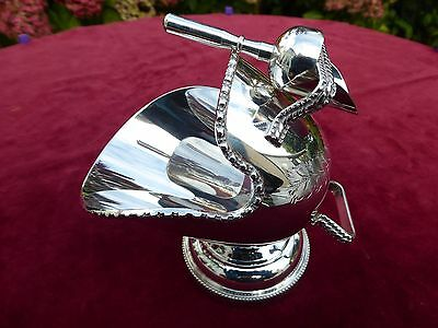 Vintage SILVER Plated ~ SUGAR / Nut / Sweet BOWL with SCOOP