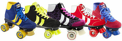 Rookie Retro Quad Roller Skates Junior/Adult Various Colours - Sizes Jnr12 to 9