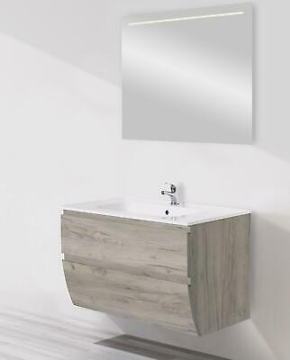 MOBILE BAGNO FLY 90 Global Trade K005 Consolle Integrale Resina E ...
