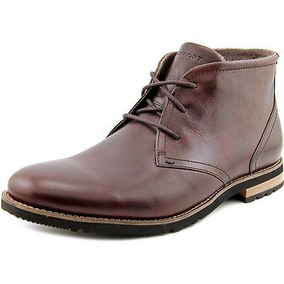 Rockport Ledge Hill Too Men W Round Toe Leather Brown Chukka Boot