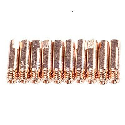 M6 MIG Welding Contact Tips (for MB15 Torch) - (Pack of 10) - 0.8mm
