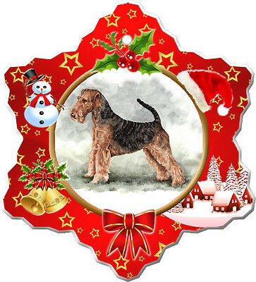 Airedale Terrier Christmas Holiday Ornament