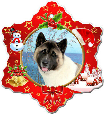 Akita Christmas Holiday Ornament