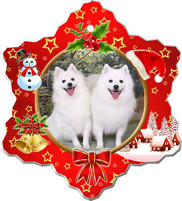 American Eskimo Christmas Holiday Ornament