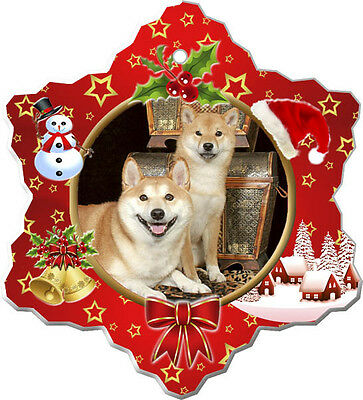 Shiba Inu Christmas Holiday Ornament