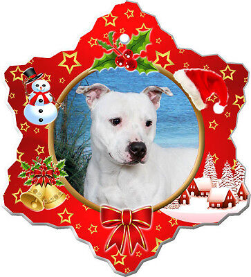 Staffordshire Bull Terrier Christmas Holiday Ornament
