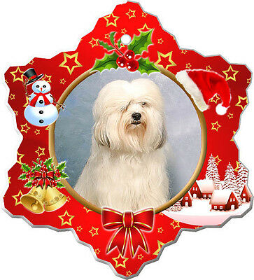 Tibetan Terrier Christmas Holiday Ornament