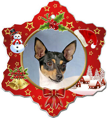 Toy Fox Terrier Christmas Holiday Ornament