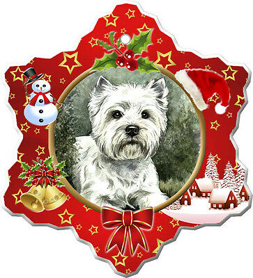 West Highland White Terrier Christmas Holiday Ornament