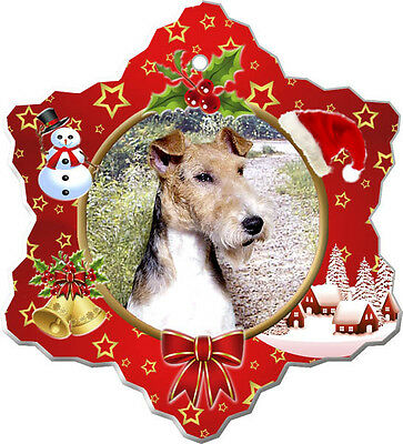 Wire Fox Terrier Christmas Holiday Ornament