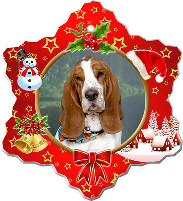 Basset Hound Christmas Holiday Ornament