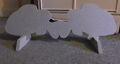 Horse show jump fillers wings x 2 UNPAINTED double FISH + stand pony stable