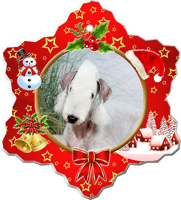 Bedlington Terrier Christmas Holiday Ornament
