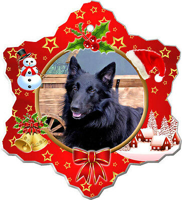 Belgian Sheepdog Christmas Holiday Ornament