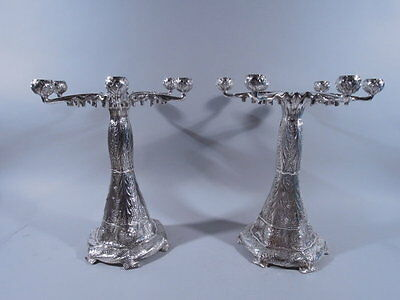 Tiffany Candelabra - 6 Light Pair - Aesthetic - American Sterling Silver