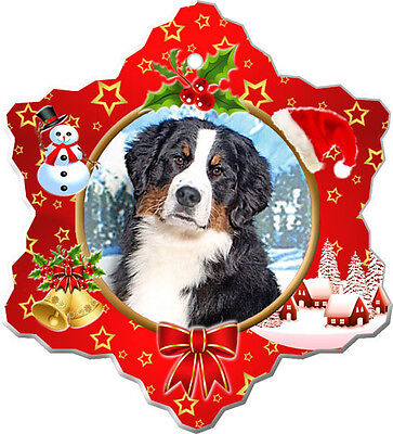 Bernese Mountain Dog Christmas Holiday Ornament