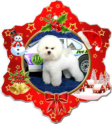 Bichon Frise Christmas Holiday Ornament