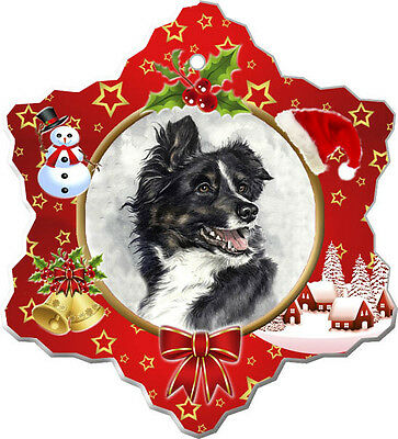 Border Collie Christmas Holiday Ornament