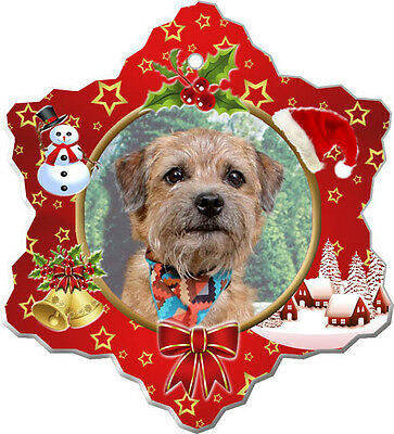Border Terrier Christmas Holiday Ornament