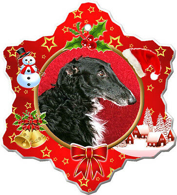 Borzoi Christmas Holiday Ornament