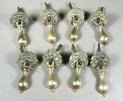 Four William & Mary Solid Cast Brass Drop Pulls