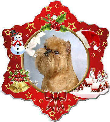 Brussels Griffon Christmas Holiday Ornament
