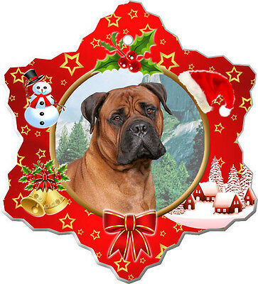 BullMastiff Christmas Holiday Ornament