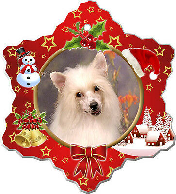Chinese Crested Christmas Holiday Ornament