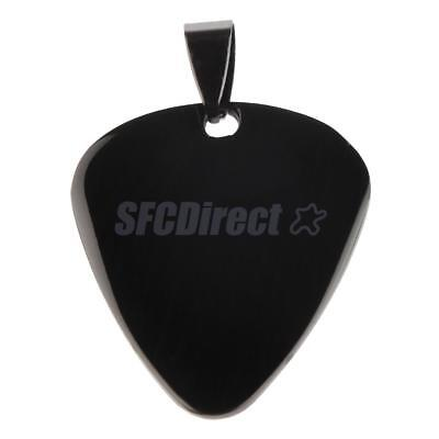 Guitar Pick Engraving-Personalized Message Stainless Steel Blank Tag Pendant