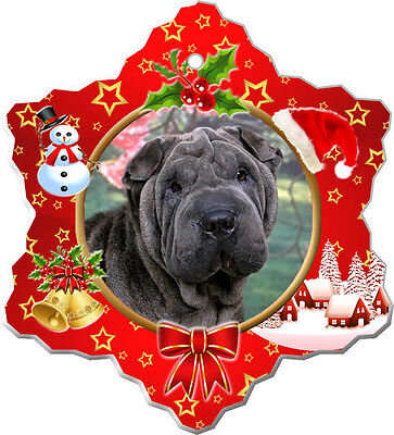 Chinese Shar-Pei Christmas Holiday Ornament