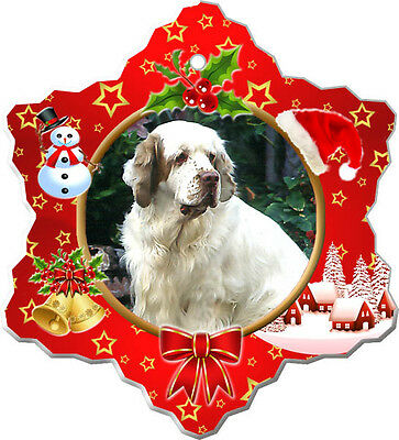 Clumber Spaniel Christmas Holiday Ornament