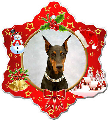 Doberman Pinscher Christmas Holiday Ornament
