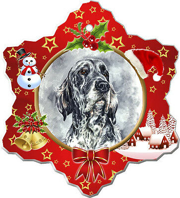English Setter Christmas Holiday Ornament