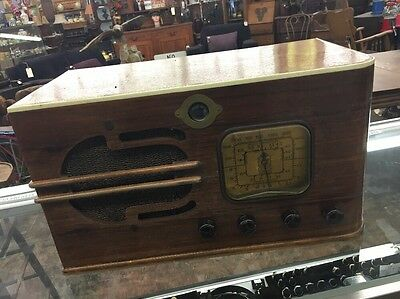 Exceptionally Rare Vintage Oldie Delco (Early) Tube Radio Works!
