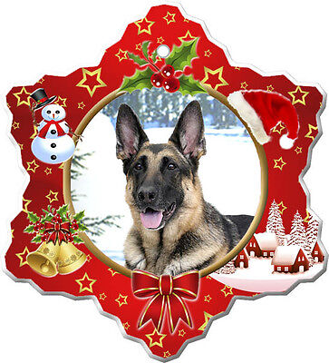 German Shepherd Christmas Holiday Ornament