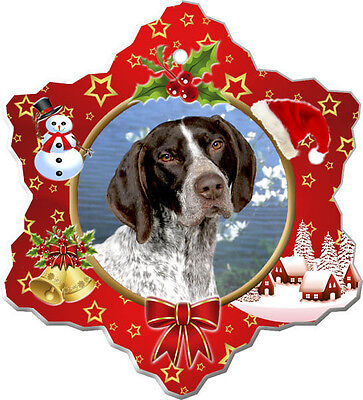 German Shorthair Pointer Christmas Holiday Ornament