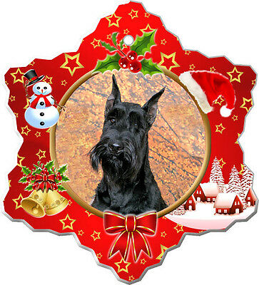 Giant Schnauzer Christmas Holiday Ornament