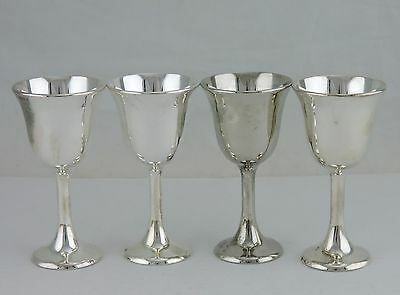 Vintage Silverplate Small Sherry/liqueur Goblet Set 4 Italy Stemware