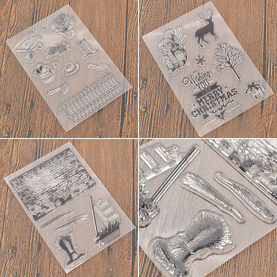 DIY Clear Stamp Scrapbook Silicone Christmas Decorative Cards Craft Supplies
