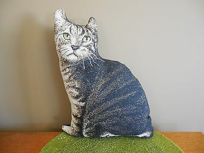 Tiger Striped Cat Tapestry Pillow