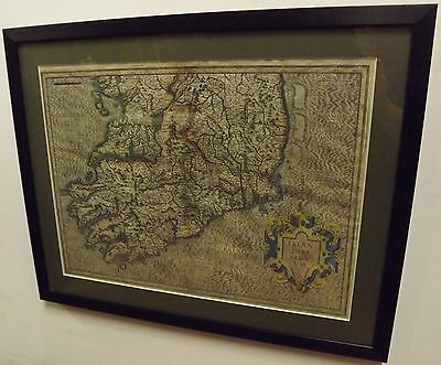 ANTIQUE GERARD MERCATOR MAP OF SOUTHERN IRELAND HAND-COLOURED EARLY C17th