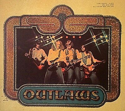 Vintage 1979 Outlaws In Concert Iron-on Transfer Southern Rock RARE!