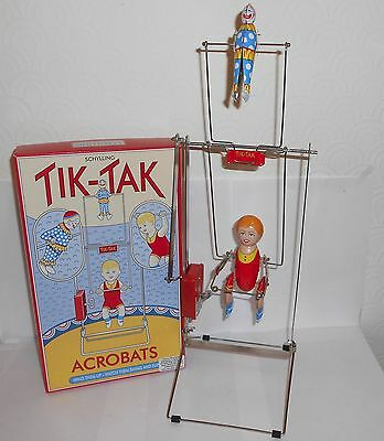 Tik-Tak clockwork acrobats tinplate toy by Schylling new in box