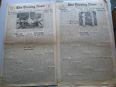 Harrisburg PA Evening News - TWO 1945 Soldiers Editions of News & COMICS