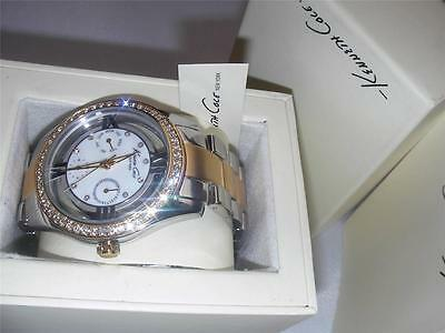New Kenneth Cole Ladies New York Transparency Two-Tone Yellow Gold Transpare